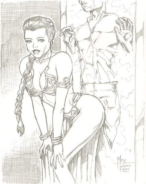 princess wardrobe costume malfunction leia slave Dark magician girl