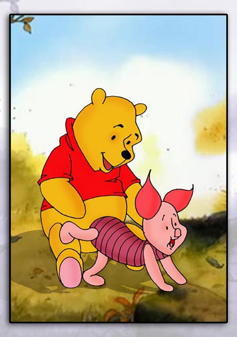pooh winnie the Conker's bad fur day weasel
