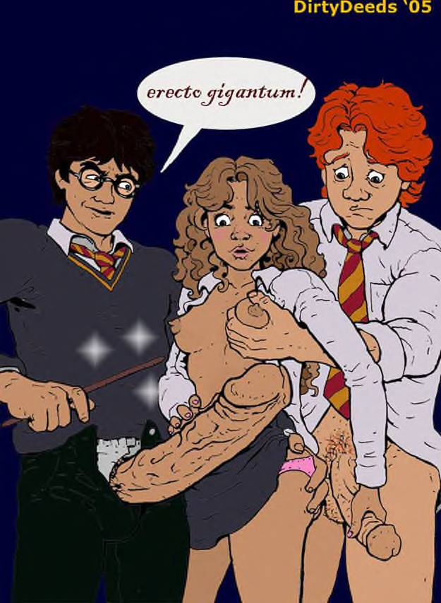 potter granger naked harry hermione Cum in womb