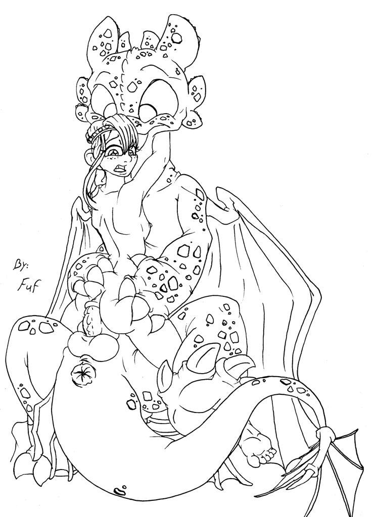 astrid train your how naked to dragon [mahou shoujo ikusei keikaku