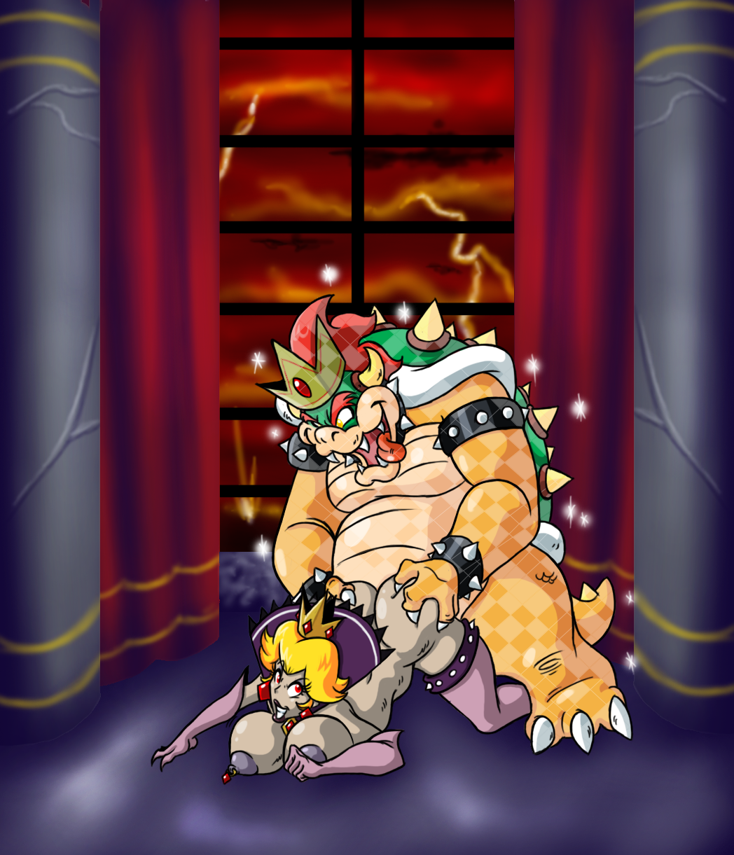 bowser bed in and peach My hero academia deku and toga