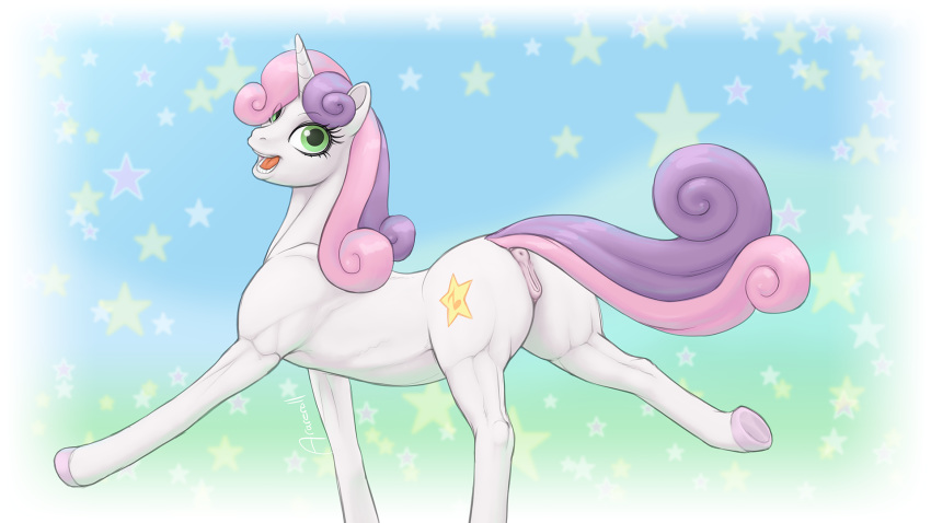 grown up belle sweetie mlp My little pony iron will