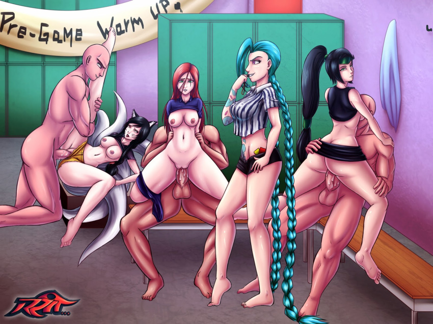 legends hentai of league katarina Naked girls in thigh highs