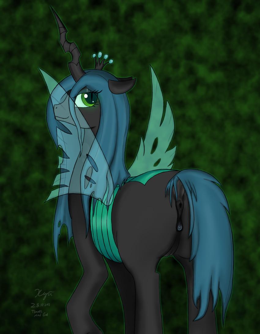 chrysalis little from pony queen my Zero no tsukaima kirche gif