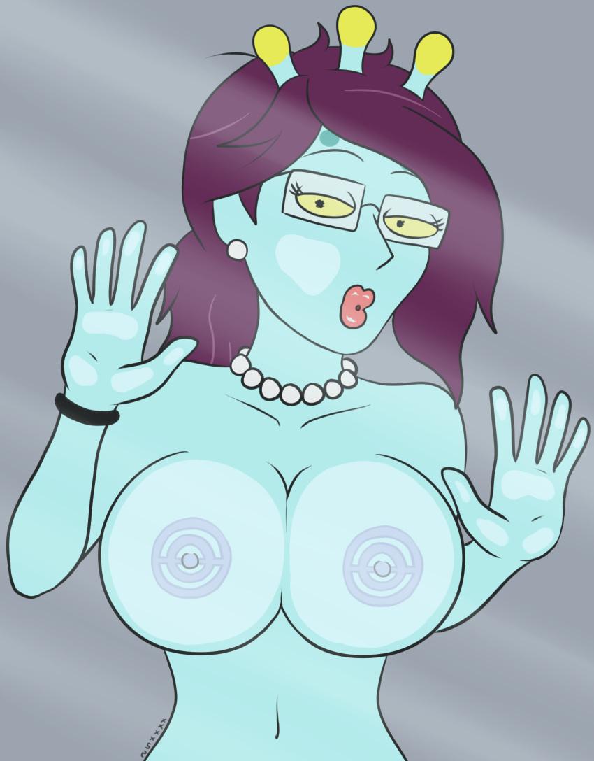 and summer giantess morty rick Senran kagura anime boobs grope gif